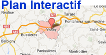 Plan interactif de Violay Loire 42